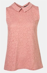 Collar top, Topshop Collared Lace Pattern Tank