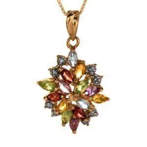 Multi-gem cluster pendant
