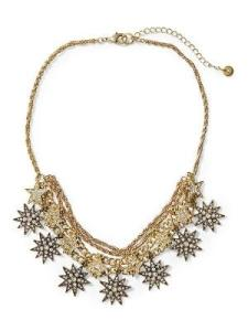 Sabine Stargazing Statement Necklace Gold
